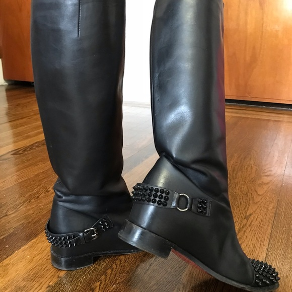 f4e2a1d2dcf Christian louboutin Egoutina Spiked riding boots